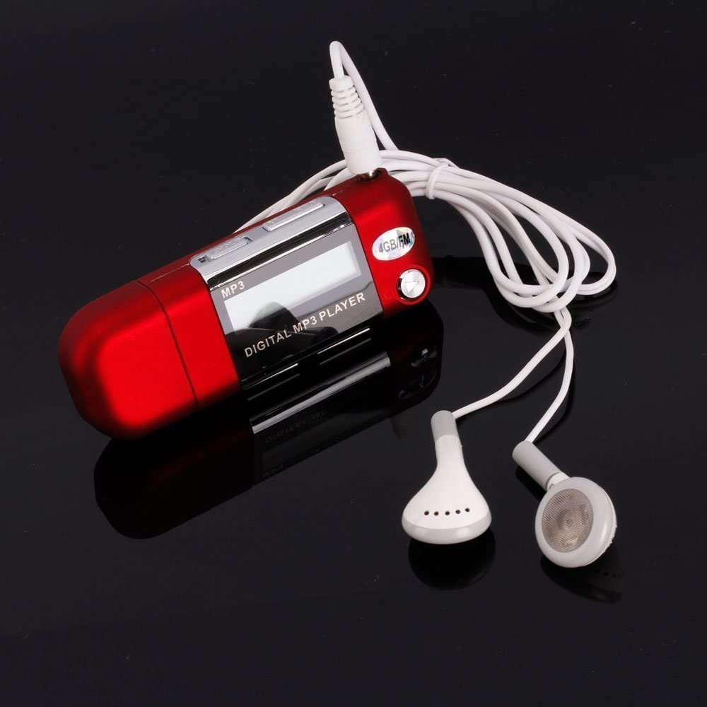 OUYAWEI Consumerelectronics for 8GB USB 2.0 Flash Drive Mini MP3 Music Player Cute and Cool Red Color