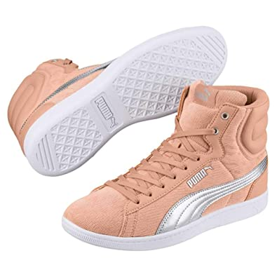 PUMA Womens Vikky Suede Low Top Lace Up Fashion Sneakers 12d51840e