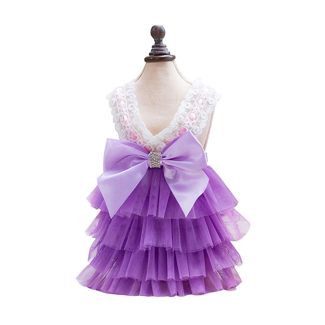 sourcingmap Falda de moda Princesa para cachorro de Perro MascotaTutu vestido de verano a17042000ux0522