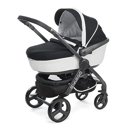 Chicco Trio StyleGo Black Night - Sistema de paseo y viaje 2 en 1, capazo y silla de paseo, 0-15 kg, color negro