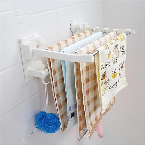 xiuxiandianju Barra de toalla de los muebles de cocina Soportes para toallas Carriles Rack Estantes para