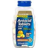 GoodSense Calcium Regular Strength Antacid Tablets, Assorted Fruit Flavored, 150 Count