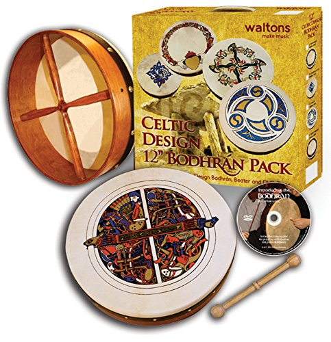 Waltons Pack 12'' Skellig Bodhran - Gift Set by Waltons