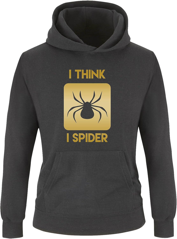 Langarm I Think I Spider Comedy Shirts K/ängurutasche Jungen Hoodie Kapuze Print-Pulli