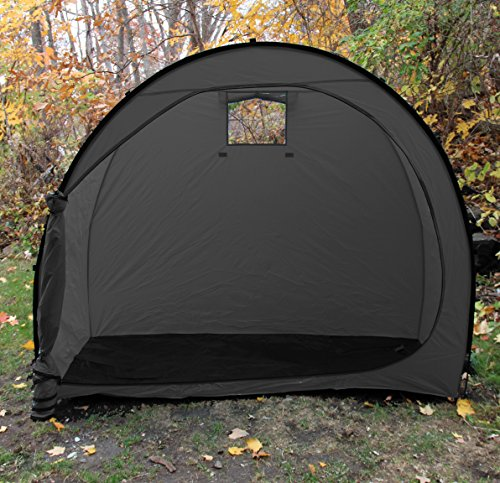 Wealers Outdoor Portable Garage Shed Bicycle Storage Tent, Space Saver, Garden Storage and Pool Storage (Black) by Wealers