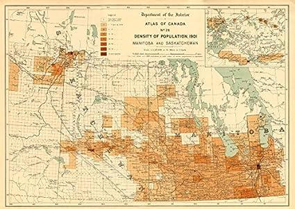 Map Of Canada Population Density.Canada Population Density 1901 Manitoba And Saskatchewan White