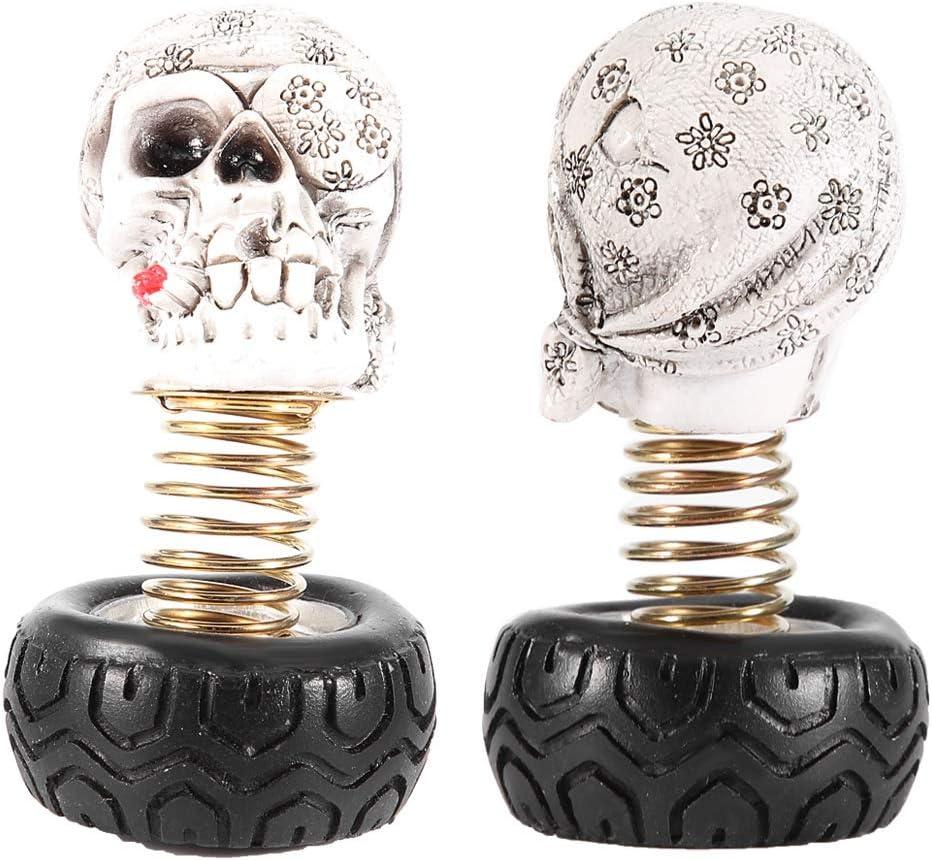 Car Decoration Swing Waving Human Skull Car Interior Decoration Dashboard Ornament Decor Accessories