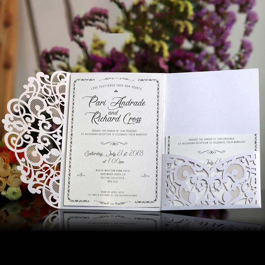 wedding invitations cards kits 10pcs laser cut lace wedding party