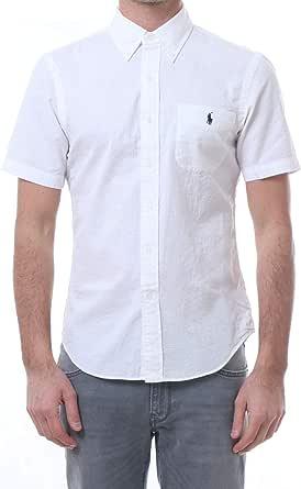 Polo Ralph Lauren Mod. 710744866 Camisa Seersucker Slim Fit Hombre Blanco M: Amazon.es: Ropa y accesorios