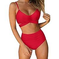 RUUHEE Women 2 Pcs Bikini Set Sexy Top Brazilian Bottom Velvet Swimsuit Swimwear