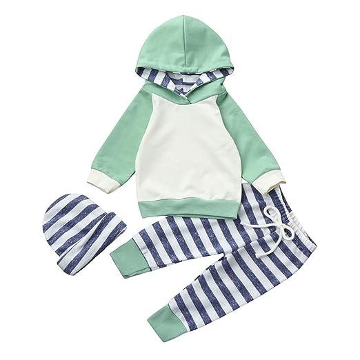 9c25005f2 Amazon.com  KONFA Toddler Baby Girls Boys Classic Hoodie Tops+Pants+ ...