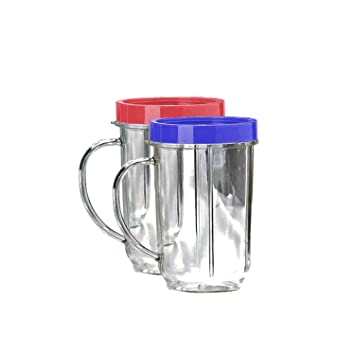 Vasos de repuesto para exprimidor de 473 ml. - Tazas de fiesta compatible con Original Magic Bullet: Amazon.es: Hogar