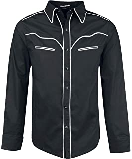 Banned White Trim Camisa Negro, negro-blanco, Medium: Amazon.es: Ropa y accesorios