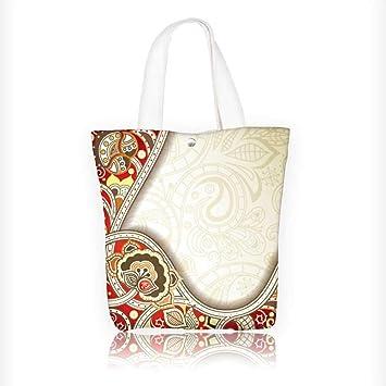 Bolso de lona macro con detalles de colorida textura de plumas de ...