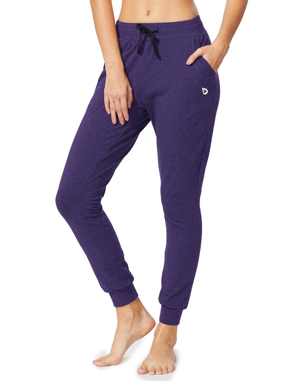 BALEAF Women Active Yoga Sweatpants Workout Joggers Pants Cotton Lounge Sweat Pants with Pockets