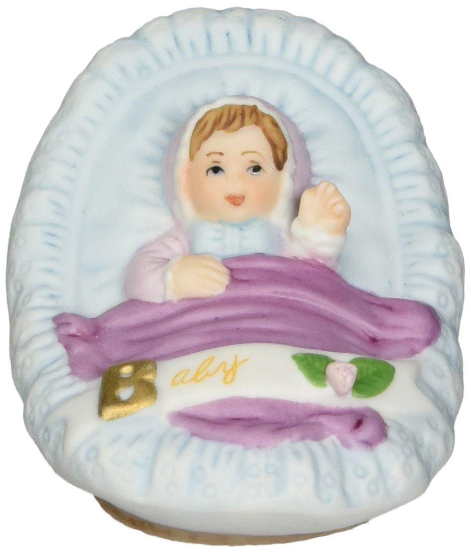 Growing up Girls from Enesco Brunette Newborn Figurine 1.75 in