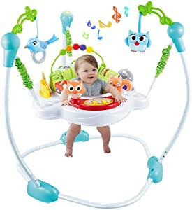Xiangtat Baby Activities Jumper Jumperoo Finding Nemo Animal Wonders, Multifunctional Electric Baby Jumper Infant Bouncer Walker with mucisc Rocking chiar Baby cardle