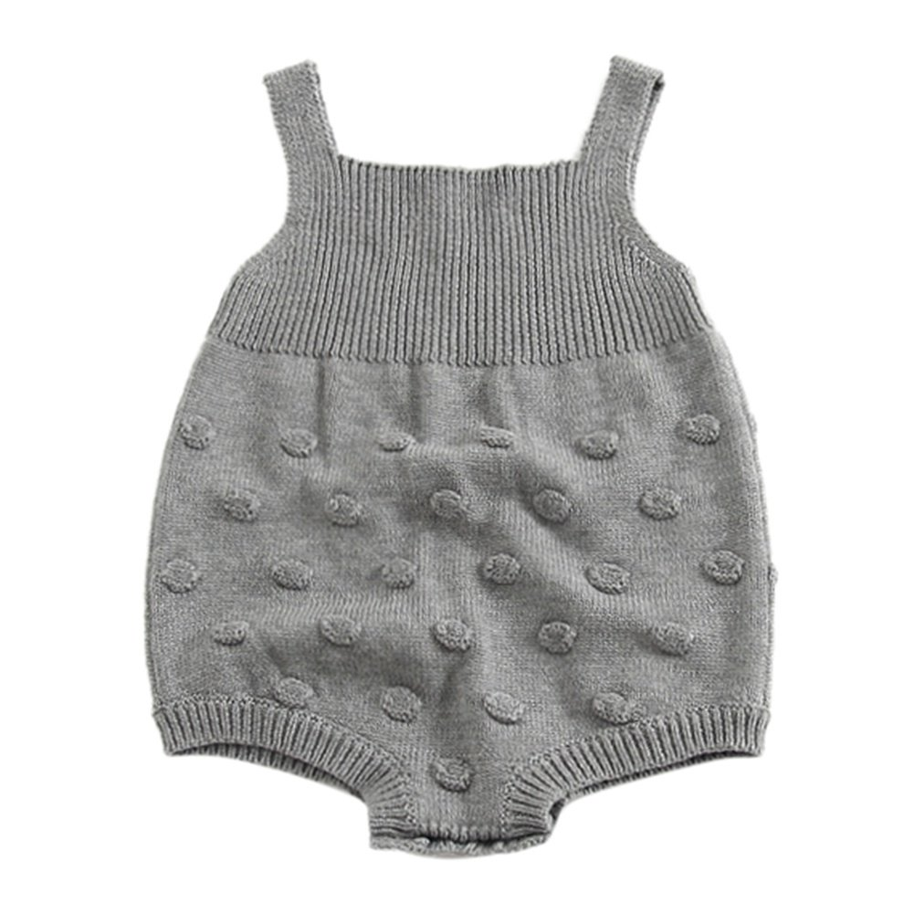 ESHOO Baby Girls Rompers Knitted Overalls Toddler Baby Jumpsuit