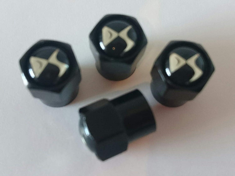 DS Lot de 4 Capuchons de Valve de Pneu en m/étal Noir chrom/é C1 C2 C3 C4 Zero Picasso DS5 DS3 Citro/ën DS4