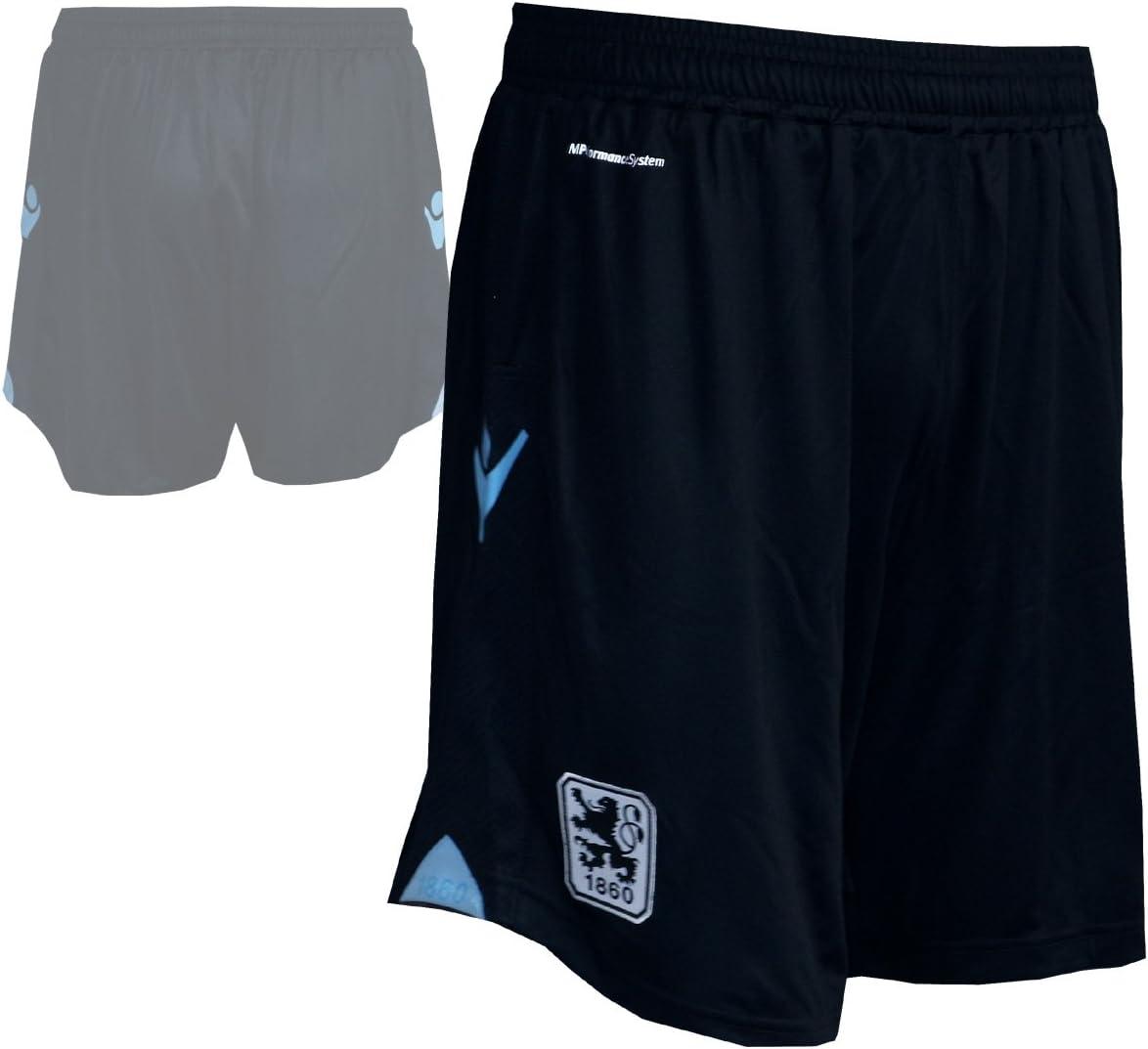 Macron TSV 1860 M/ünchen Authentic Away Short Spielerhose L/öwen Turnhose Fu/ßball-Hose schwarz