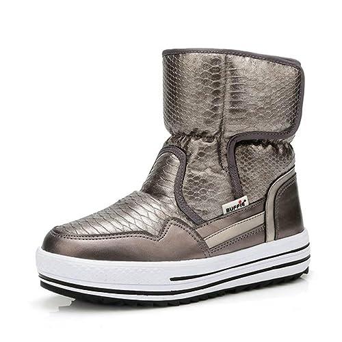 aa0d0c60c8a8c Mujer Botas Antideslizante Zapatos Resistentes Al Agua Moda Femenina  Invierno Caliente Botas De Piel  Amazon.es  Zapatos y complementos