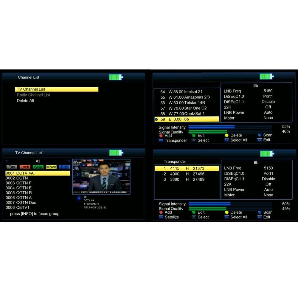 Satellite Finder Satilite Signal Meter, Teepao Digital Satellite Finder V8 DVB-S/S2 Portable TV Antenna High Definition Signal Finder Meter With 3.5 Inch LCD Color Screen For Camper Motorhome Explorer by Teepao (Image #3)