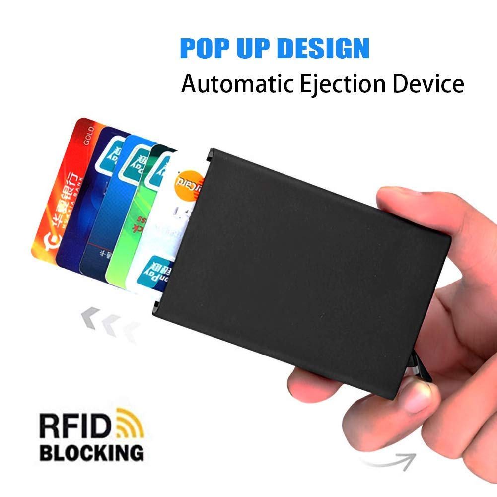 Credit Card Holder RFID Blocking Card Holder and Contactless Credit Card Protector Aluminium