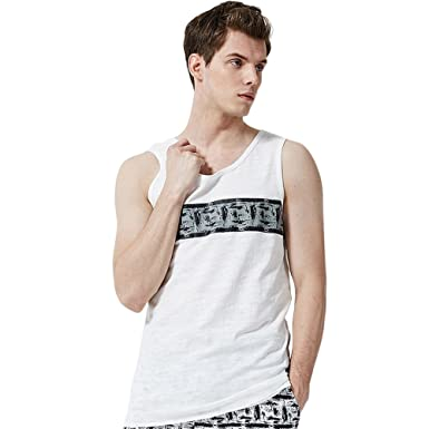 7560d89f8 Amazon.com: Mens Tank Top Gyms Fitness Muscle Mesh Hoodie Sleeveless  Bodybuilding Singlet T-Shirt Vest: Clothing