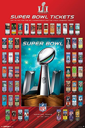 Trends International Super Bowl LI Tickets Collector's Edition Wall Poster 24