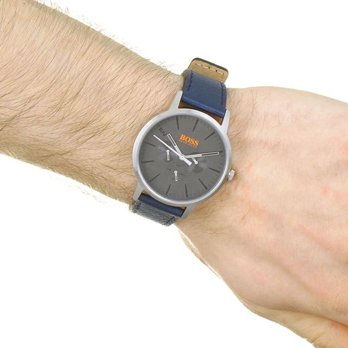 619e9222a345 Hugo Boss Orange Reloj Multiesfera para Hombre de Cuarzo con Correa en  Cuero 1550066  Amazon.es  Relojes