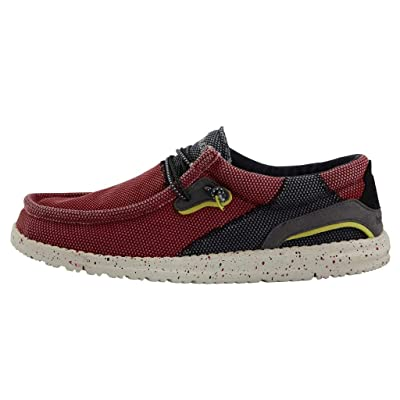 Hey Dude Men\'s Wally Hawk Red, Size 8 | Loafers & Slip-Ons [3Bkhe0400124]