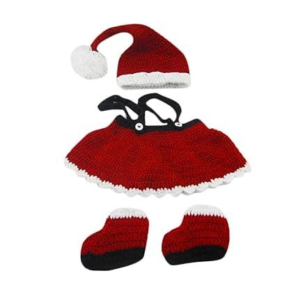 chendongdong recién nacido Foto Fotografía Props Disfraces Crochet Outfits Gorras de sombreros niños accesorios bebé Knit Hand-knit tejido Navidad