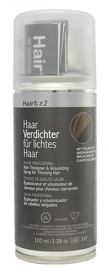 Hairfor2 Hair Thickening Spray Color Medium-Brown - 100 ml