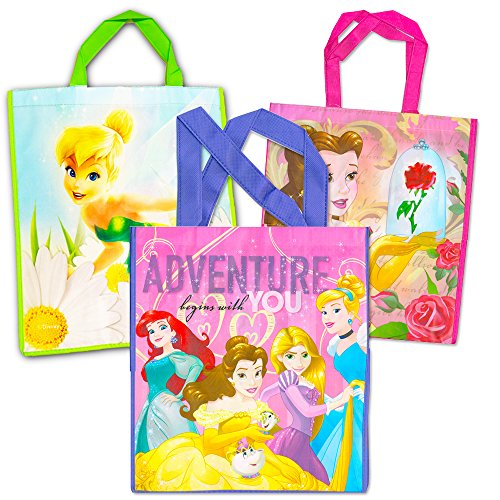 Bella Tote Bag (Disney Princess Tote Bags Value Pack -- 3 Reusable Tote Party Bags (Featuring Cinderella, Belle, Snow White and More))