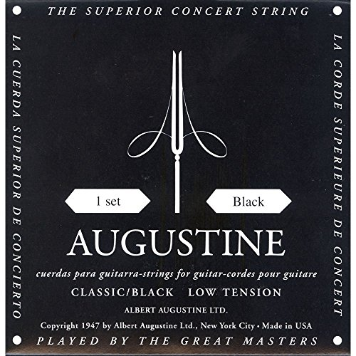 Augustine Classical Guitar Strings (HLSETBLACK) from Augustine