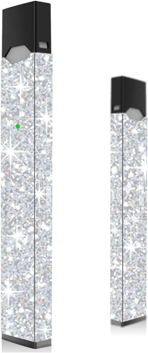 Paquete de 2 Pegatinas de Juul con Purpurina Plateada | Calcomanía Juul | Juul Wrap | Juul Sticker (2 Unidades) – Piel de juul con Purpurina Plateada | Juul Decal | Juul Wrap | Juul Sticker: Amazon.es: Electrónica