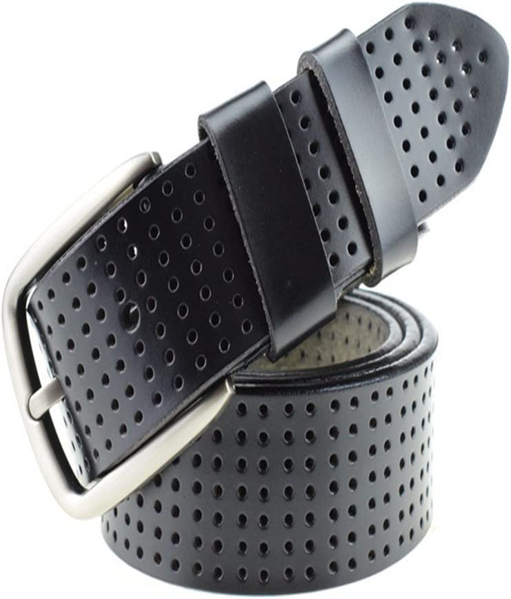 Crystalzhong-MW Mens Leather Strap Waistband Mens Pure Leather Belt Casual Needle Cowhide Buckle Young Male Formal Belt