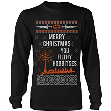 Lord Of The Rings Christmas Jumper.Merry Xmas You Filthy Hobbitses Lord The Rings Ugly