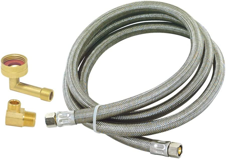 Eastman 41065 Braided Stainless Steel Dishwasher Connector, 6'