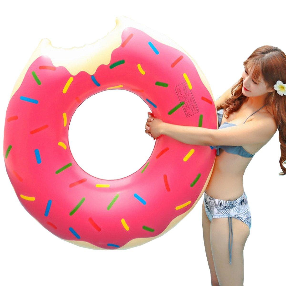 Donut anillo de natación inflable, Flotador Gigante Buñuelo Piscina, Verano natación anillos, Agua Pool Float Juguetes inflables para adultos y niños, ...