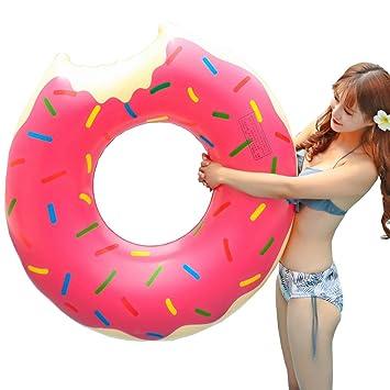 Donut anillo de natación inflable, Flotador Gigante Buñuelo ...
