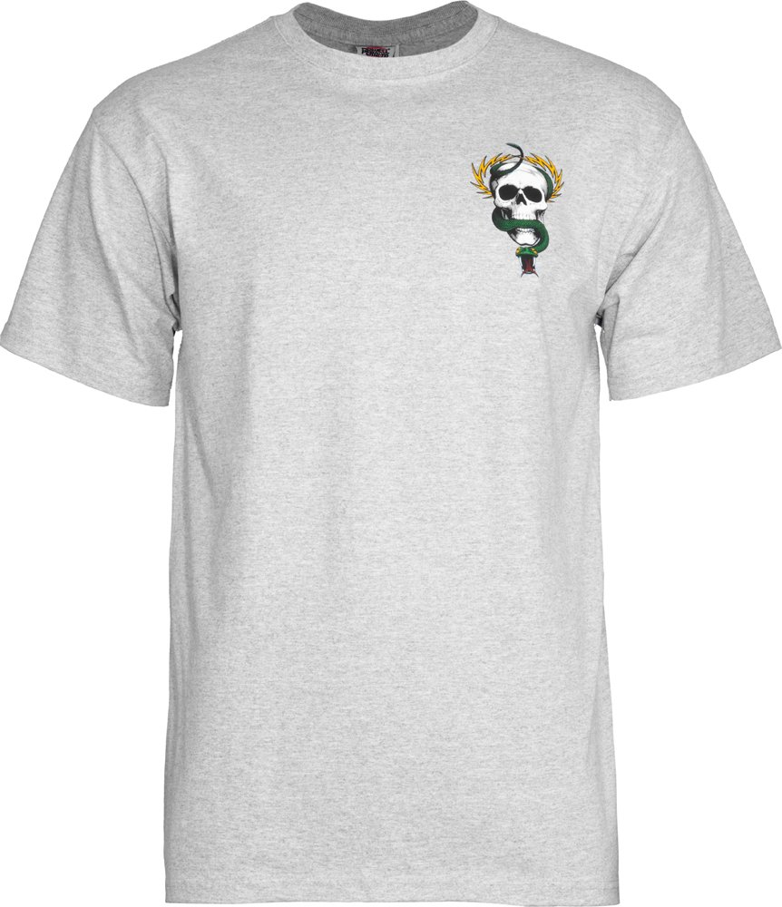 Powell-Peralta McGill Skull and Snake T-Shirt, Gray, X-Large by Powell-Peralta (Image #2)