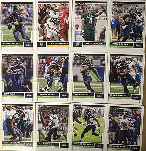 Seattle Seahawks Card - 2017 Panini Score Football Seattle Seahawks Team Set 12 Cards W/Rookies