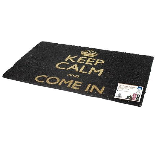 """17 opinioni per JVL- Zerbino con scritta """"Keep Calm and Come In"""", lato inferiore in PVC,"""