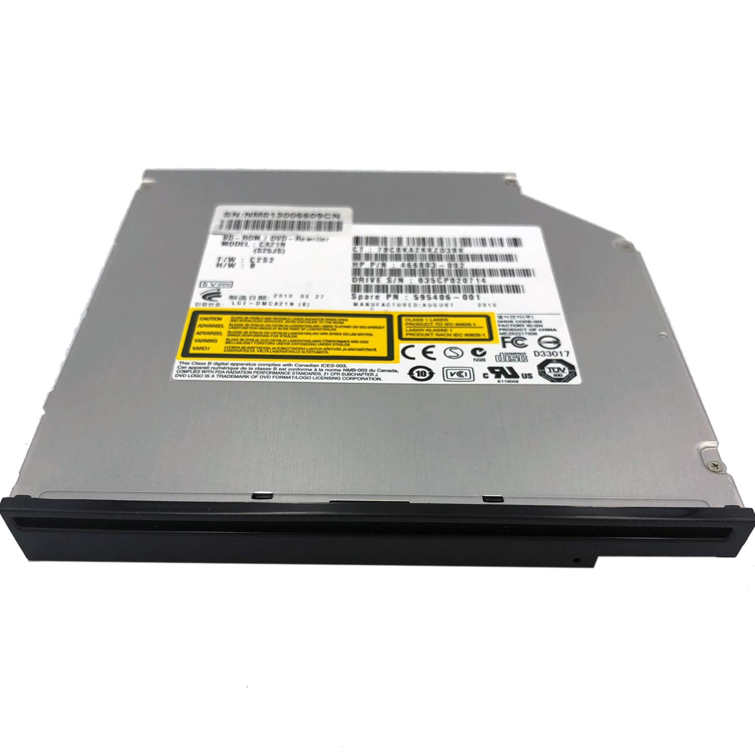 New Internal Blu-ray Reader CA21N SATA Slot in 3D Blu-ray Player DVD CD Writer for iMac Mac Mini and Other laptops