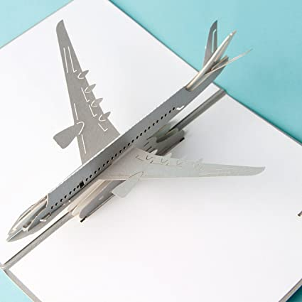 3d Pop Up Cards Vintage Avión de Air Creative Gifts postal ...