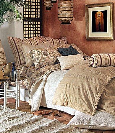 Amazon Com Ralph Lauren Bedding Marrakesh Tan Jacquard