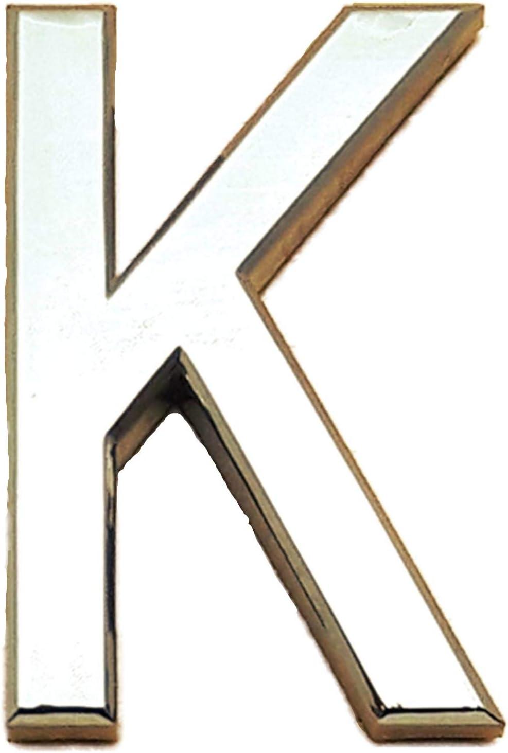 7 cm Autos A S Brand Selbstklebender Chrombuchstabe f/ür T/üren 3D-gebogen Silber f/ür Zuhause