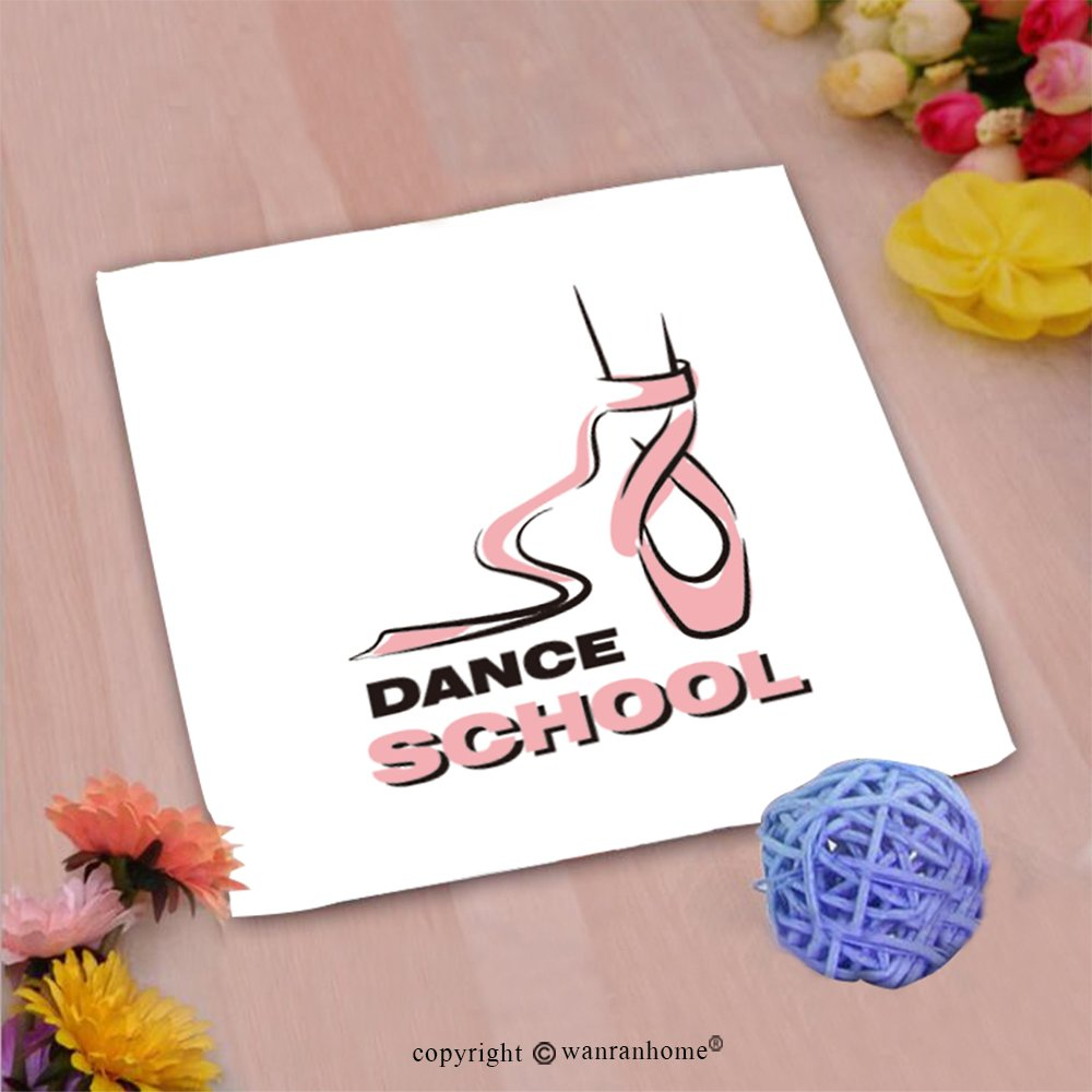 VROSELV Custom Cotton Microfiber Ultra Soft Hand Towel-Dance School Custom Pattern of Household Products(14''x14'') by VROSELV (Image #1)