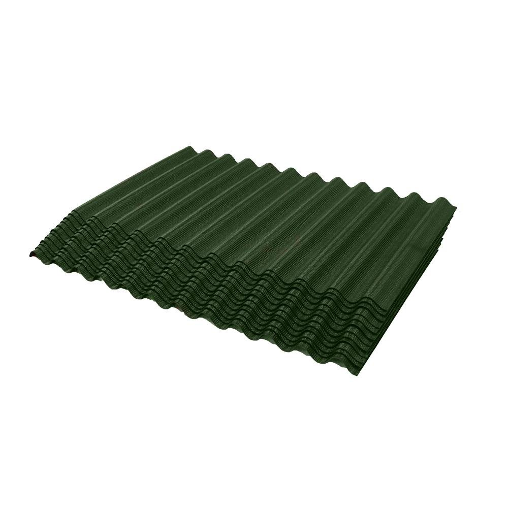 ONDURA 2354 Corrugated Asphalt Shingles (12-Pack), Green